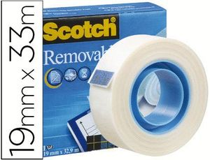 CINTA ADHESIVA REMOVIBLE SCOTCH MAGIC 19 MM X 33 MM