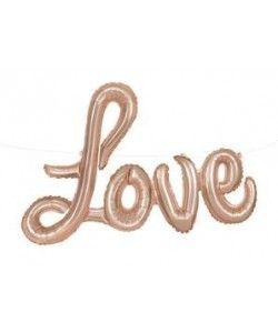 GLOBO FOIL LOVE ROSE GOLD 91,4 CM.