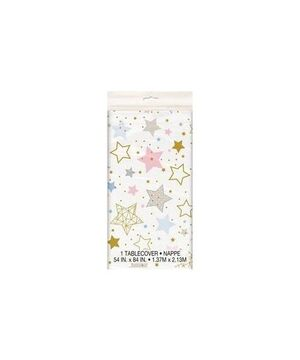 MANTEL PLASTICO RECTANGULAR LITTLE STAR 1,37X2,13 METROS