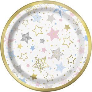 PLATOS CARTON 17,1 CM  LITTLE STAR PAQ 8 UDS