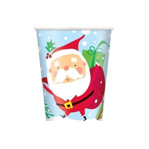 VASO PAPEL COLOURFUL SANTA 266ML PAQ. 8 UDS.