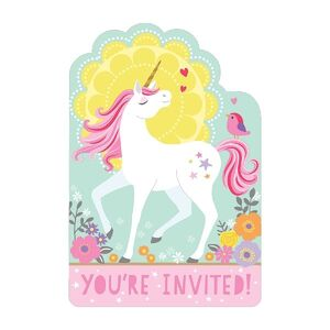 INVITACION MAGICAL UNICORN