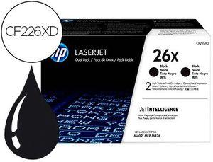 TONER HP LASERJET PRO 26X M402 MFP M426 NEGRO PACK DE 2 UNIDADES 9000 PAGINAS