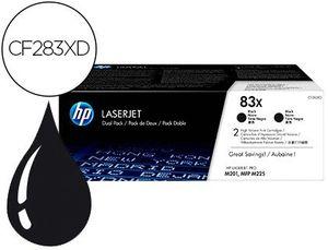 TONER HP LASERJET PRO 83X M201 MFP M225 NEGRO PACK DE 2 UNIDADES 2200 PAGINAS