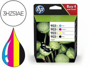 INK-JET HP 903XL OFFICEJET 69XX / OFFICEJET PRO 69XX PACK 4 COLORES NEGRO / AMARILLO / CIAN / MAGENT
