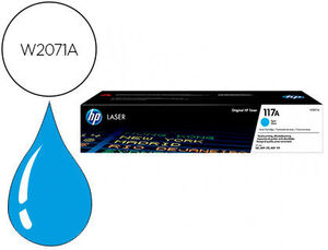 TONER HP 117A LASER COLOR 150A / 150NW / 178NW / 178NWG / 179FNW CIAN 700 PAGINAS