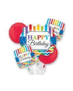 MULTI GLOBO BRIGHT HAPPY BIRTHDAY