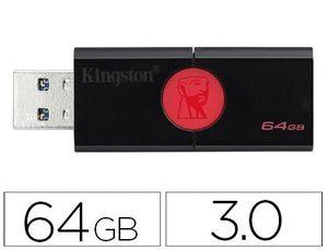 MEMORIA KINGSTON DATA TRAVELER 106 64 GB USB 3.0 LECTURA HASTA 100MB/S
