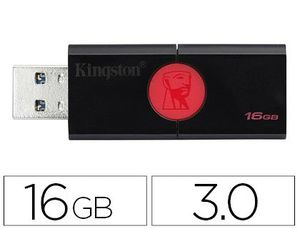 MEMORIA KINGSTON DATA TRAVELER 106 16 GB USB 3.0 LECTURA HASTA 100MB/S
