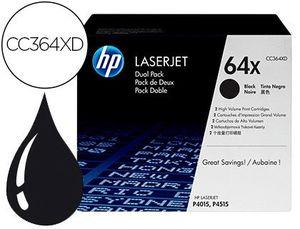 TONER HP LASERJET 64 X P4015 P4515 NEGRO PACK DE 2 UNIDADES 24000 PAGINAS