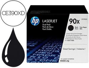 TONER HP LASERJET 90X ENTERPRISE M4555MFP NEGRO PACK DE 2 UNIDADES 24000 PAGINAS