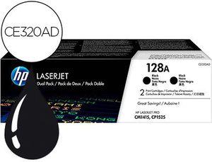 TONER HP LASERJET PRO 128A CM1415 CP1525 NEGRO PACK DE 2 UNIDADES 2000 PAGINAS