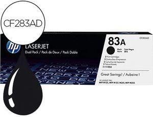 TONER HP LASERJET PRO 83A MFP M125 M127 M201 M225 NEGRO PACK DE 2 UNIDADES 1500 PAGINAS