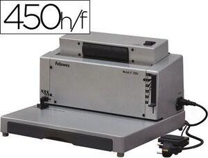 ENCUADERNADORA ELECTRICA PARA ESPIRAL FELLOWES E-200R PERFORA 20 H ENCUADERNA HASTA 450 H PASO 5:1