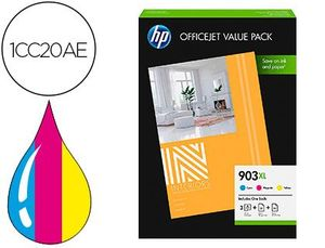 INK-JET HP 903XL OFFICEJET 6950 / 6951 / 6954 / 6962 / 6960 / 6970 / 6975 PACK 3 COLORES CIAN MAGENT