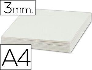 CARTON PLUMA A4 3MM BLANCO