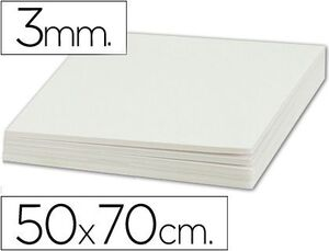 CARTON PLUMA 50X70 3MM BLANCO