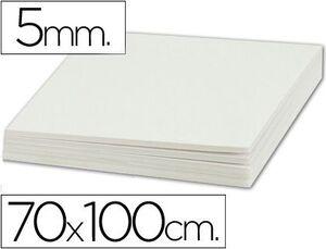 CARTON PLUMA 70X100 5MM BLANCO