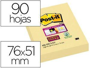 BLOC NOTAS ADHESIVAS POST-IT AMARILLO STICKY 51X76 MM