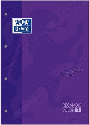 RECAMBIO OXFORD TOUCH LILA A4 5X5 MM 80 HJ 90 GR