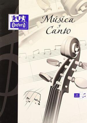 LIBRETA MUSICA Y CANTO A4 5X5 24 HJ 90 GR + PENTAGRAMA
