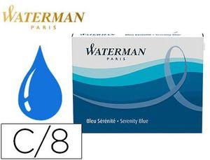 TINTA ESTILOGRAFICA WATERMAN SERENITY BLUE CAJA 8 CARTUCHOS