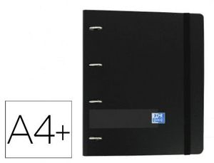 CARPEBLOCK A4 4AX35MM OXFORD EUROPEAN NEGRO + RECAMBIO 5X5 100 HJ