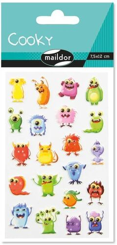 STICKERS MONSTRUOS 2 PACK 1 HJ 7,5X12 CM