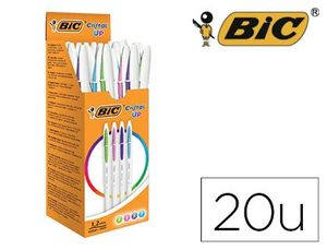 BOLIGRAFO BIC CRISTAL UP BICOLOR FUN COLORES 1,2 MM.
