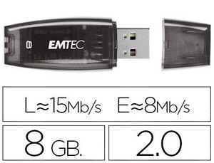 MEMORIA USB EMTEC FLASH C410 8 GB 2.0 MORADO