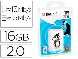 MEMORIA USB EMTEC FLASH 16 GB USB 2.0 SYLVESTER