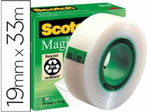 ROLLO CINTA SCOTCH MAGIC 19 MM X 33 M