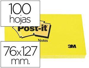 BLOC NOTAS ADHESIVAS POST-IT 76X127 MM 100 HJ 655 AMARILLO