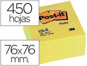 CUBO 450 NOTAS ADHESIVAS POST-IT 76X76X45 MM AMARILLO