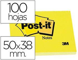 BLOC DE NOTAS ADHESIVAS QUITA Y PON POST-IT 50X38 MM CON 100HOJAS 653E