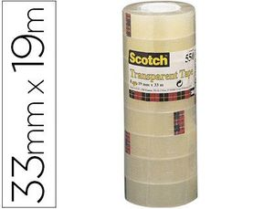 CINTA ADHESIVA SCOTCH ACORDEON PACK 8 550 19X33 MM
