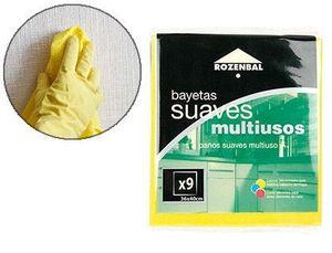 BAYETA MULTIUSO 36X40 CM PACK DE 9 UNIDADES