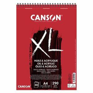 BLOC DIBUJO CANSON XL OLEO Y ACRILICO A4 30 HJ 290 GR