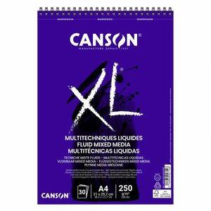BLOC DIBUJO CANSON XL MULTITECNICAS LIQUIDAS A4 30 HJ 250 GR
