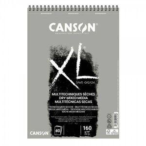 BLOC DIBUJO CANSON XL MULTITECNICAS SECAS GRIS A3 40 HJ 160 GR