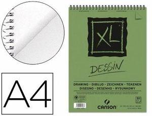 BLOC DIBUJO CANSON XL DESSIN A4 LISO ESPIRAL MICROPERFORADO