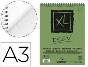 BLOC DIBUJO CANSON XL DESSIN A3 LISO ESPIRAL MICROPERFORADO