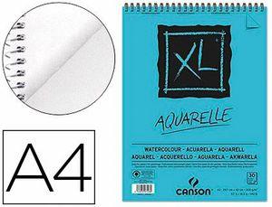 BLOC DIBUJO ACUARELA CANSON XL AQUARELLE A4 300 GR
