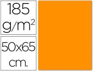 CARTULINA 50X65 185 GR NARANJA