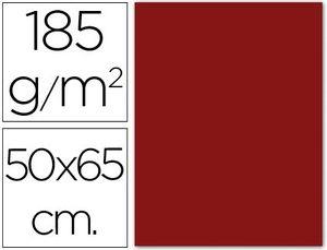 CARTULINA 50X65 185G GRANATE