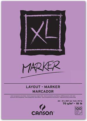 BLOC ENCOLADO CANSON XL MARKER BARRERA A4 100 HJ 70 GR