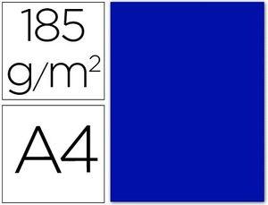 CARTULINA A4 ULTRAMAR 185 GR PAQ 50 UD