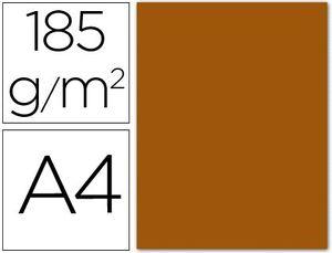 CARTULINA A4 CHOCOLATE 185 GR PAQ 50 UD