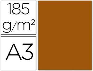 CARTULINA A3 CHOCOLATE 185 GR PAQ 50 UD