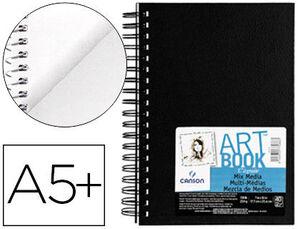 BLOC DIBUJO MULTITECNICAS CANSON MIX MEDIA ART BOOK ESPIRAL LISO DIN A5+ 40 HOJAS GRANO FINO 224 GR